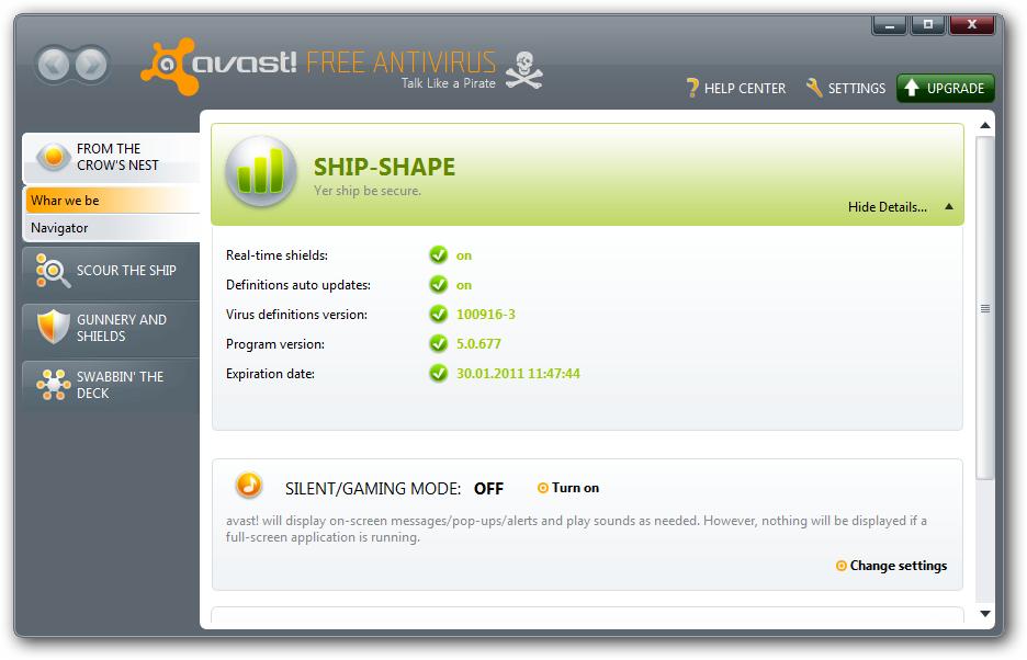 Avast!5.0.594Free Antivirus With Chrome.