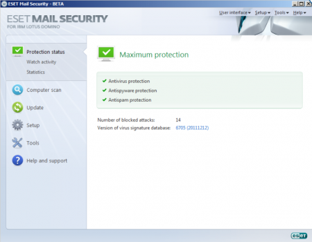 ESET Mail Security для Lotus Domino